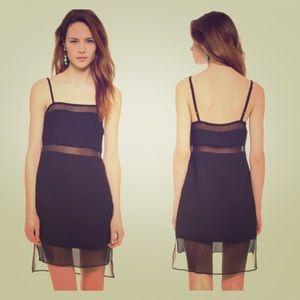 Parker black slip dress